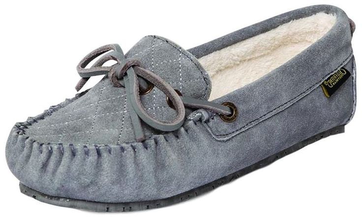 Old Friend Slippers Womens Size 10 Molly Moccasin Sheepskin Grey 340155 #OldFriend #MoccasinSlippers