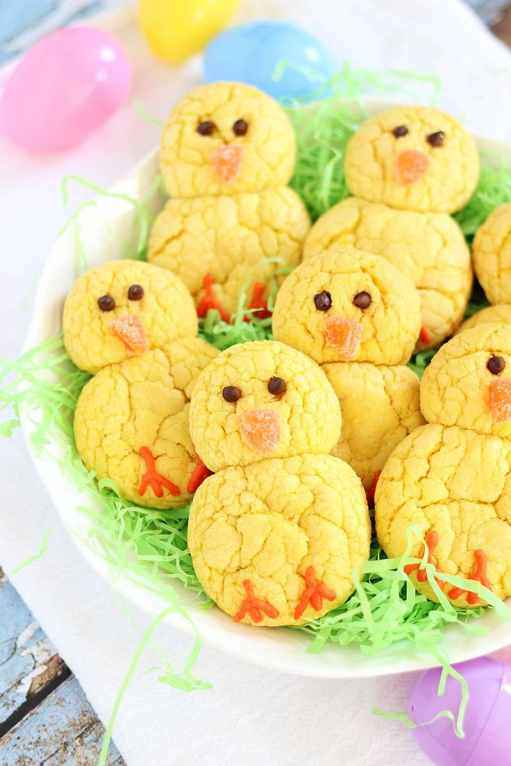 lemon cake mix cookie easter chicks 5