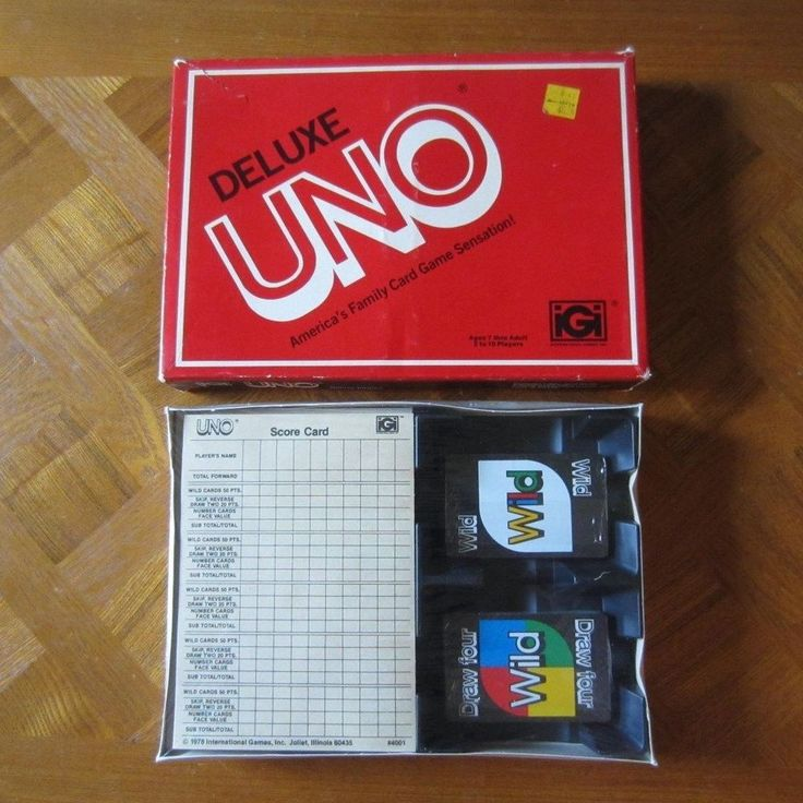 Vintage 1978 Deluxe UNO Card Game New in Box Sealed International Games Inc. NOS…