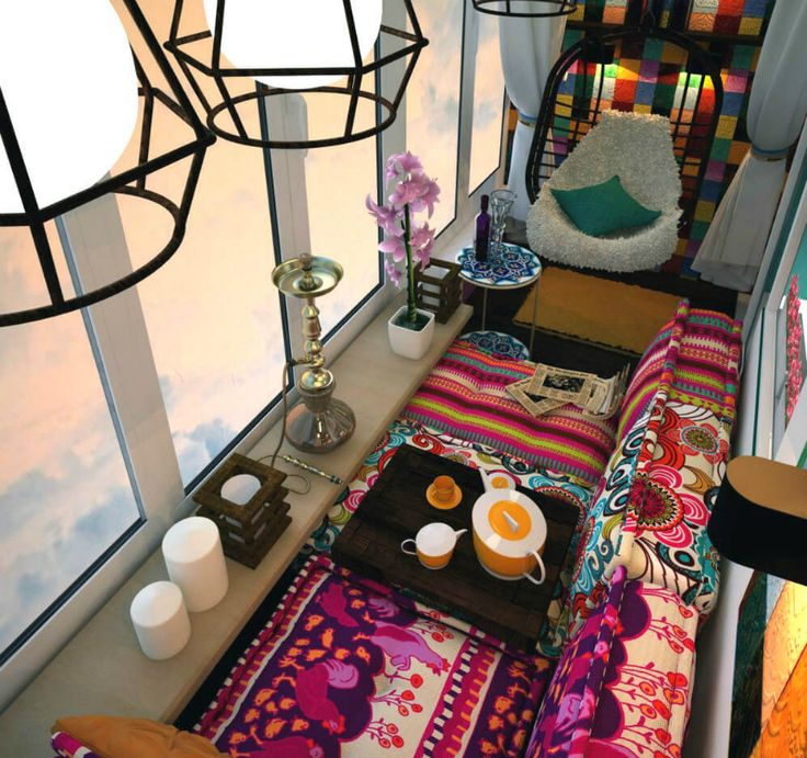Кальянная на балконе дизайн фото