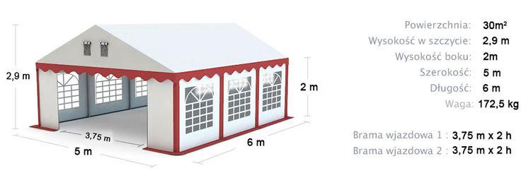 Namiot Handlowy Imprezowy 5m x 6m (30m²) całoroczny STANDARD MAX / Commercial Tent 5x6 Winter