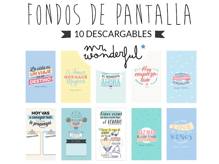 9 Best Fondos De Pantalla Mr Wonderful Images On Pinterest