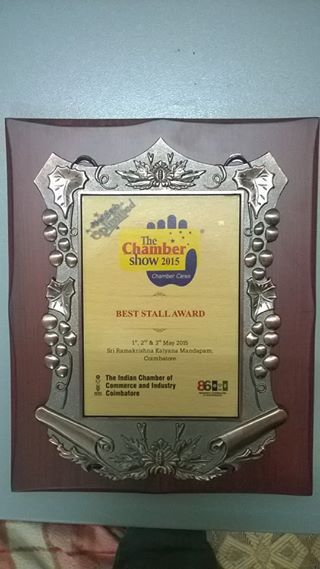 we feel Happy to Inform U tat our college stall have Won THE BEST STALL AWARD in THE COIMBATORE CHAMBER SHOW 2015 held in RAMAKRISHNA KALYANA MANDABAM chief guest cine actor Mr.SATHYARAJ, for Innovative Project & Motivating the Students and the People about ROOF GARDENING and its Importance. We won this award among 116 stalls in different fields and many other institutions.  This milestone was reached only by our RENICS CLUB team members.THANKS TO EVERYONE for your support.