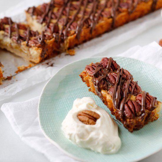Pecan pie tart with praline cream. | Desserts | Pinterest