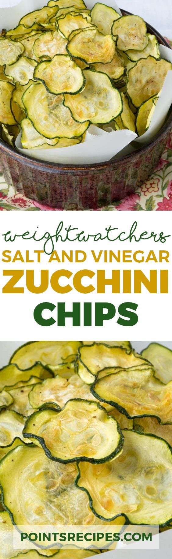 Salt and Vinegar Zucchini Chips (Weight Watchers SmartPoints)