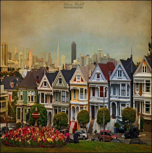 landscapelifescape:        Six Sisters, Alamo square, San Francisco, California, USA        (by A.Hulot)