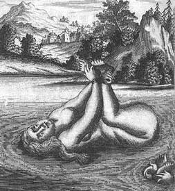 Water Witch Test    In a trial by ordeal, supposed witches were immersed into a vat of water or pond, and taken out after some time, thus and given the opportunity to confess. This process was usually repeated until the victim drowned or gave up and confessed, leading to them being executed in another way, usually hanging or, more rarely, burning. Also, if they had their hands/feet tied, they would be left under water. If they floated they were guilty of witchcraft, if they sank they were…