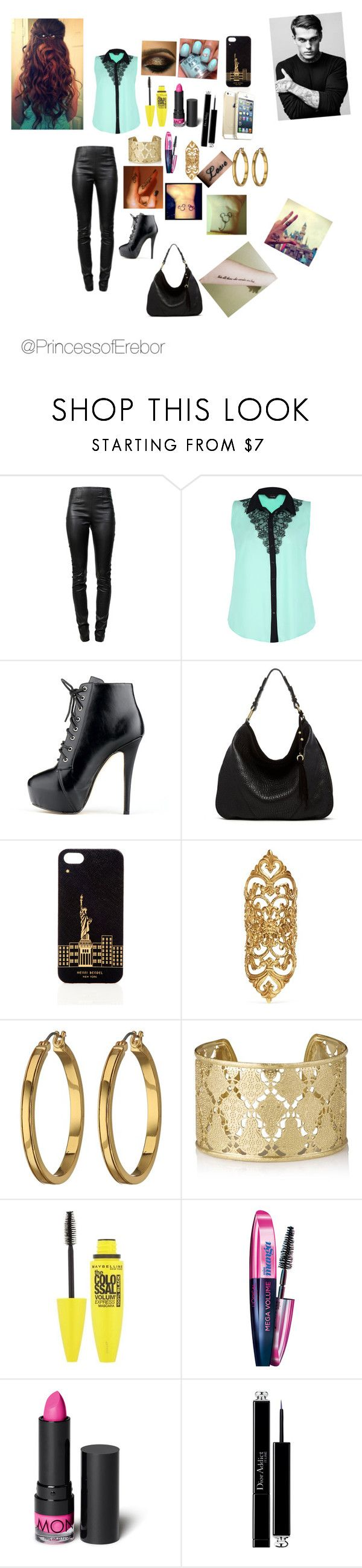 """Lunch with Stephen"" by batmanswife1 ❤ liked on Polyvore featuring Alexander Wang, Ella Moss, Henri Bendel, Ela Stone, Novo, Lauren Ralph Lauren, Shyla, L'Oréal Paris, Monki and Christian Dior"
