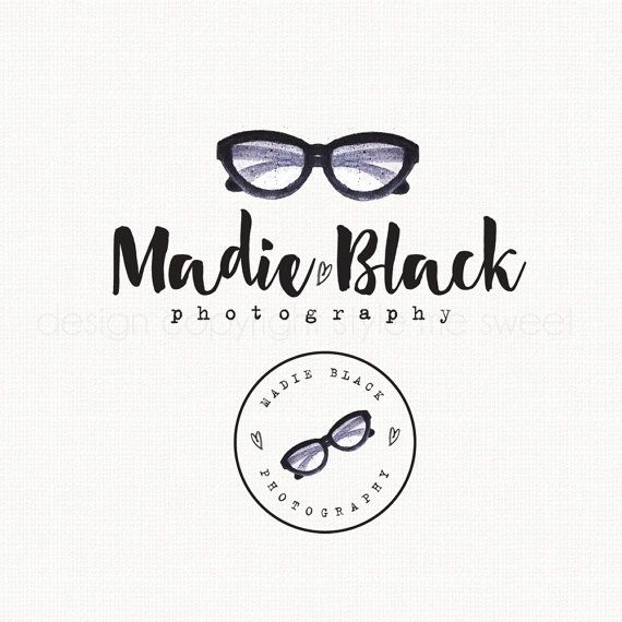 glasses logo design hipster logo design by stylemesweetdesign