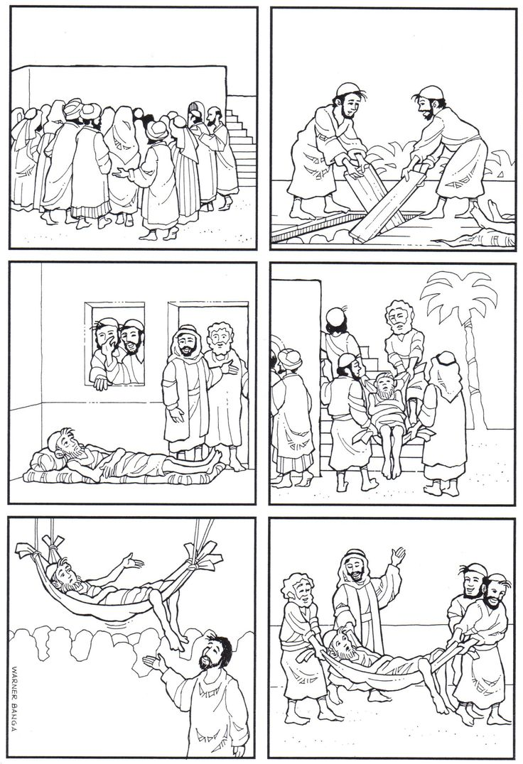 17 best images about z cc healing miracles of jesus on for Jesus heals a paralytic coloring page