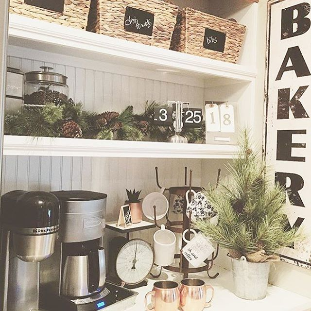 It's Friday, it's Friday (does anyone else remember that song?!) and my #followfriday goes out to @thewhitefarmhouse ! Love this festive little coffee bar! Can j come over for some coffee?! #Ff #onetofollow