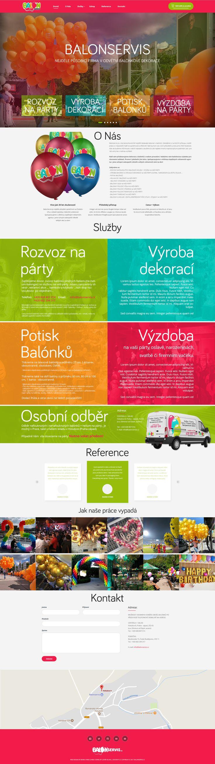 Webdesign for Balonservis.cz
