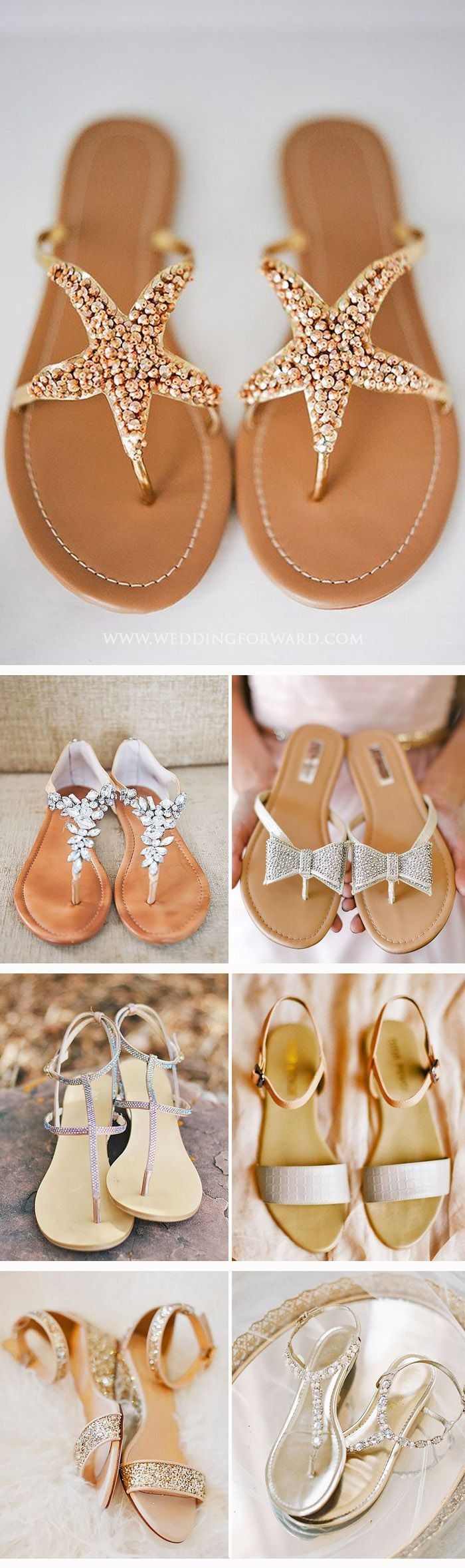 24 Wedding Sandals You'll Want To Wear Again ❤ Perfect for summer beach wedding, flat, comfortable - wedding sandals have many advantages. See more: http://www.weddingforward.com/wedding-sandals/ #weddings #shoes