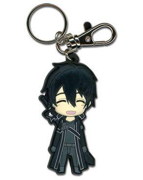 Sword Art Online Chibi Kirito Happy PVC Key Chain