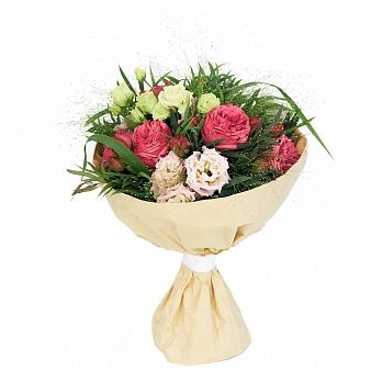 50 первых поцелуев - лизиантус, паникум, роза кустовая садовая