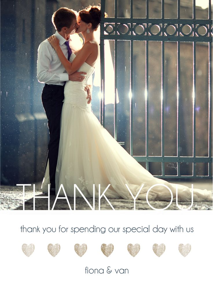 thank you note for wedding gift sample%0A Thank You Card   Customizable with your own image and details   CatPrint  Design