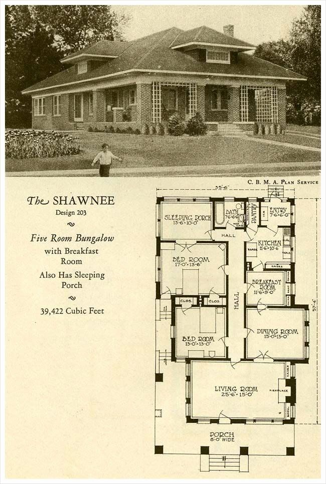 Old Fashioned House Plans Awesome 1927 Brick Houses The Shawnee Not Fancy But Nice In 2020 House Plans Craftsman House Plans Vintage House Plans