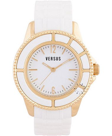 VERSUS Tokyo White Rubber Strap Τιμή: 185€ Τιμή Προσφοράς: 95€ http://www.oroloi.gr/product_info.php?products_id=27822