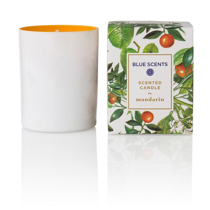 "Green Blu - ""BLUE SCENTS"" Mandarin Scented Candle 135gr"