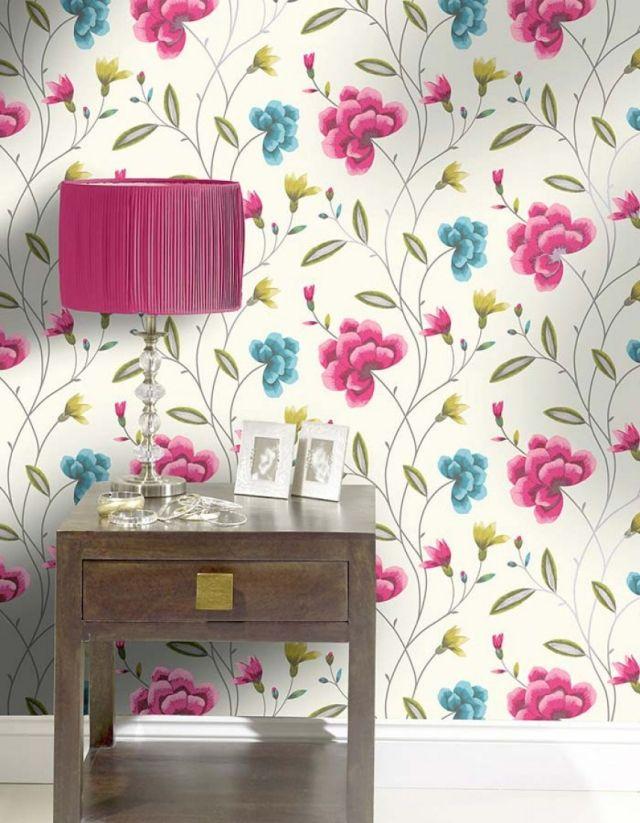 85 Wohnzimmer Tapeten Ideen \u2013 Florale und Barock Muster - tapeten wohnzimmer