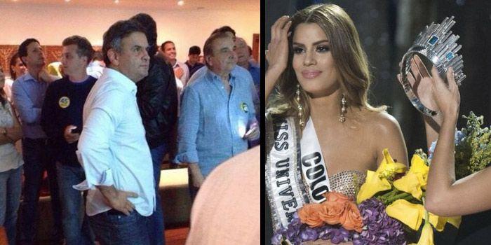 """Aécio se solidariza com Miss Colômbia: """"Sei como é ganhar por pouco tempo"""""""