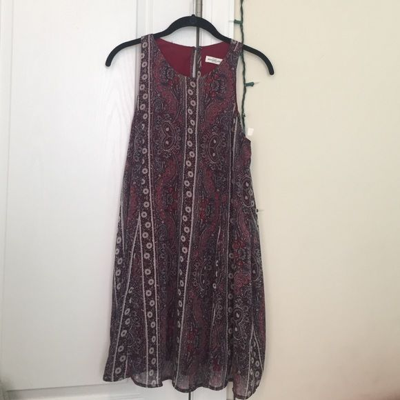 New Abercrombie and Fitch Dress Patterned, tank top Abercrombie and Fitch dress. Size small, worn once. Completely new condition. Abercrombie & Fitch Dresses