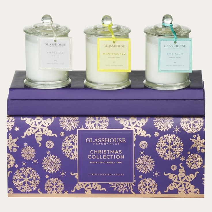 Redcurrent - Glasshouse Gift Set - Minis Candle Trio | Redcurrent - online, homewares, gifts for women, Ecoya, New Zealand