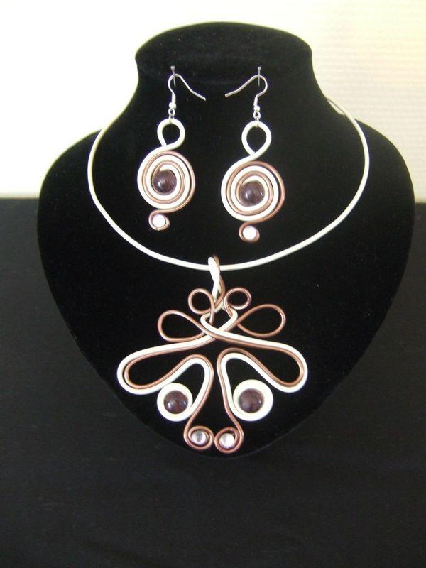 337 best images about bijoux aluminum on pinterest - Tuto bijoux pate fimo et fil aluminium ...