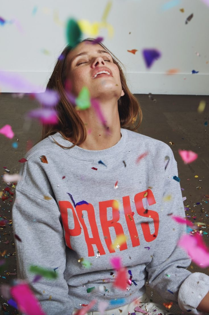 Sweat Paris gris