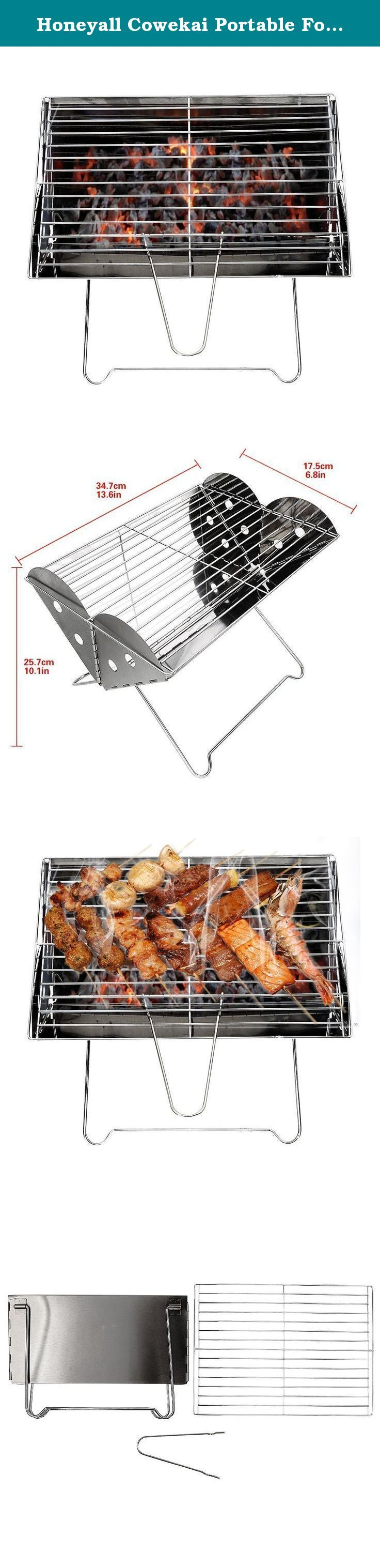 Honeyall Cowekai Portable Folding BBQ Grill,Stainless Steel chromed Cooking Mesh Barbecue Grill Handbag for outdoor travel camping Picnic or Home. Let's start enjoy outdoor BBQ with this handbag grill! Or you can make BBQ in your backyard and share it with your family members or lovers. Image that how cool or Romantic! Features: Fuel: charcoal Material: stainless steel Portable and foldable BBQ Easy to install. Don't need any tools. Parameters: (weight and size may have little error)...