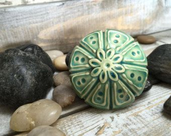 Large Green Ceramic Pottery Knob / Drawer Pull Handmade - Edit Listing - Etsy