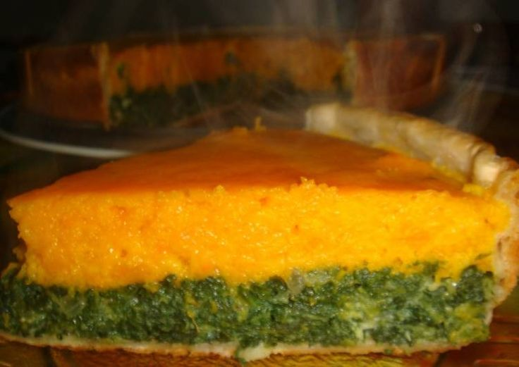 Tarta de calabaza y espinacas (bicolor)