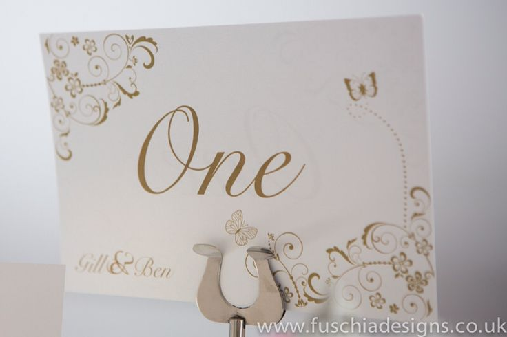 Butterfly personalised table name by www.fuschiadesigns.co.uk