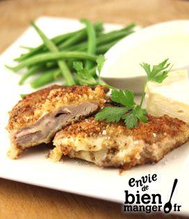 Recette Escalope panée et sa sauce Camembert de Campagne (difficulté Moyen) . Découvrez comment préparer votre Plat principal sur EnvieDeBienManger.fr