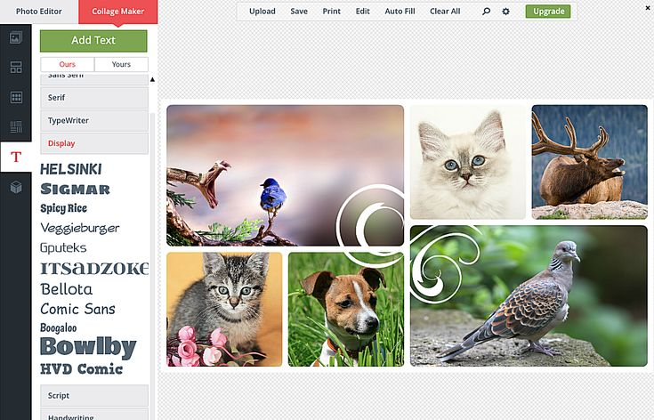 Create a Custom Collage With These Free Photo Collage Makers: BeFunky-BeFunky is another wonderful online photo collage maker that lets you edit in fullscreen mode to provide an even greater work area.