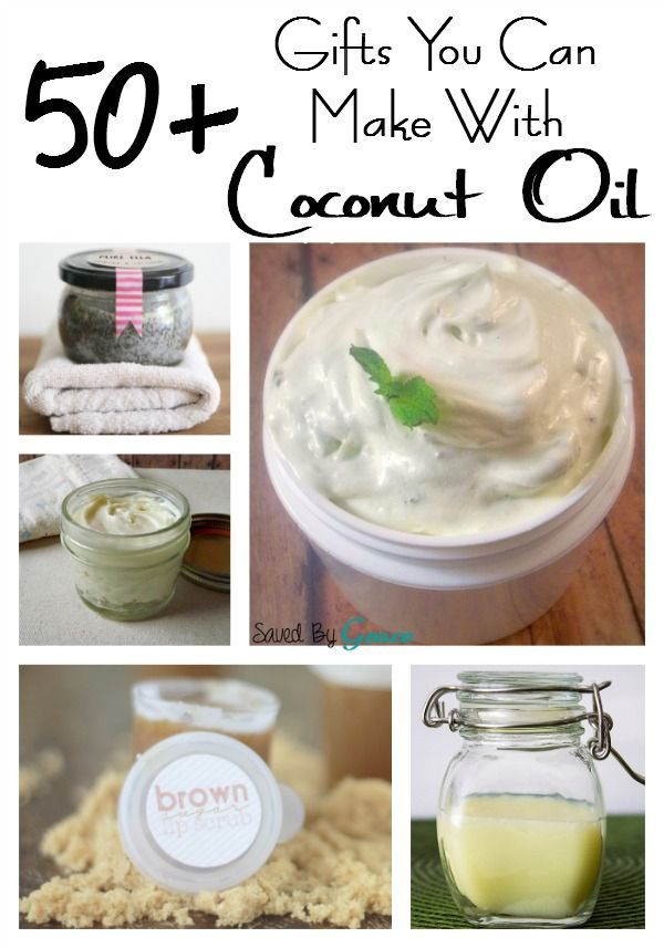 50 Gifts You Can Make With Coconut Oil- these easy DIY and gift ideas are perfect to make for the upcoming holiday season.
