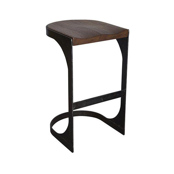 Необычный дизайн стула Baxter прекрасно дополнит барный интерьер.             Метки: Табуреты для кухни.              Материал: Металл, Дерево.              Бренд: Noir.              Стили: Лофт, Скандинавский и минимализм.              Цвета: Темно-коричневый, Черный.