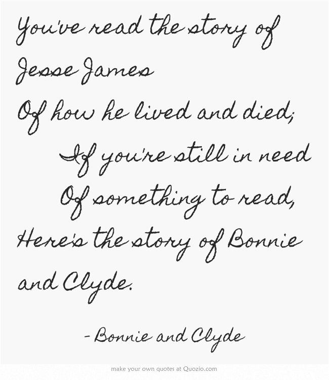 bonnie and clyde type of relationship quotes