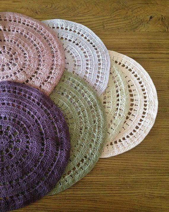 Set of 6 Place Mat, Crochet Place Mat, Large Coaster, Handmade place mat