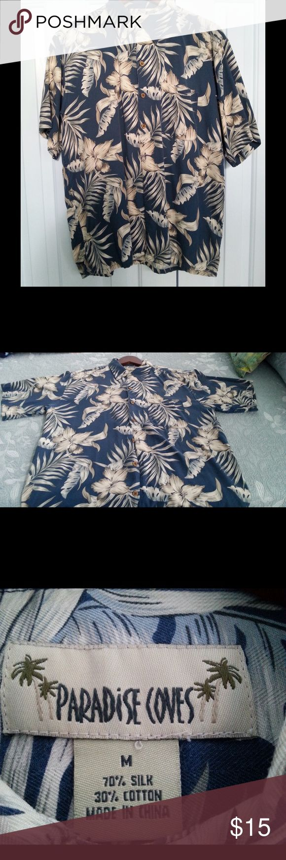 Men's silk shirt in gorgeous blue Excellent condition silk shirt. Men's medium. Shirts Casual Button Down Shirts