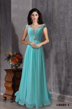 Blue Princess robe, robe longue, robe bleue au sol douce