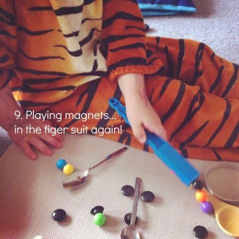 reggio activities with magnets {An Everyday Story}