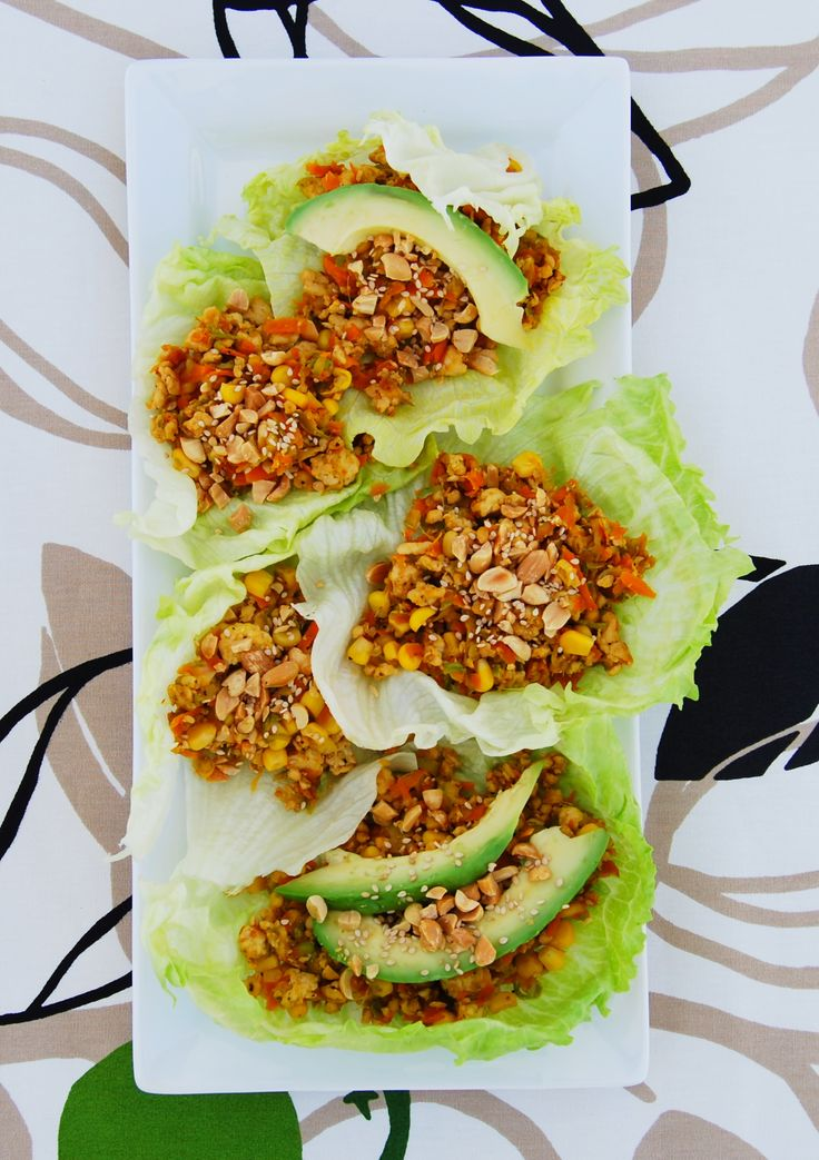 Chicken lettuce wraps - quick, easy & healthy