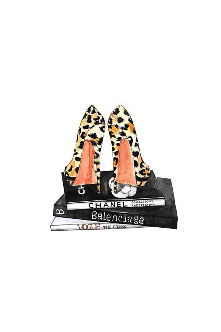 Fashion illustration,Leopard heels fashion art,Fashion wall art,Fashion…