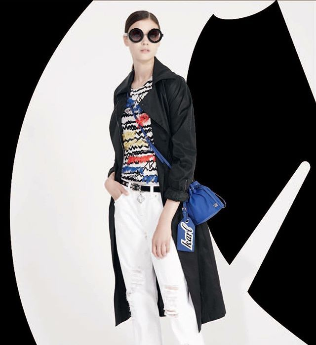 Welcoming Spring with the perfect outfit ! #KARLLAGERFELD