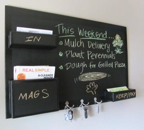 another diy chalkboard mail organizer