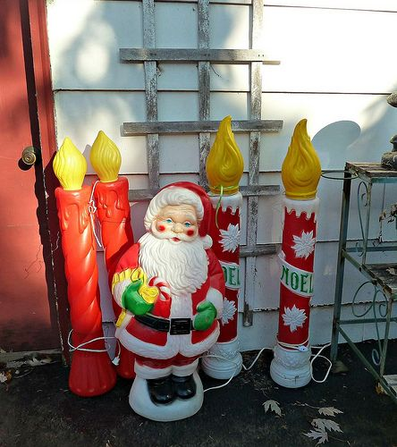 Set Of 3 Metal Christmas Carolers Outdoor Yard Display: 232 Best Images About Vintage Blow Molds On Pinterest