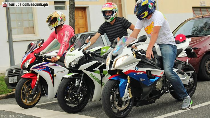 Bikers 76 - Honda CBR 1000RR Burnout & RL, Kawasaki, BMW, Yamaha, Suzuki...