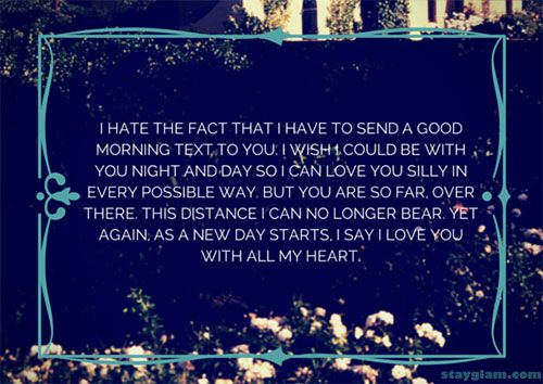 Long distance relationship love quote.