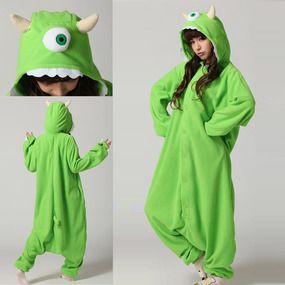 Kigurumi Onesies Monster University Mike Wazowski Costume Pajama